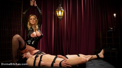 Photo number 13 from Latex Goddess Julia Ann Dominates Dripping Cock Whore shot for Divine Bitches on Kink.com. Featuring Julia Ann and Tony Orlando in hardcore BDSM & Fetish porn.