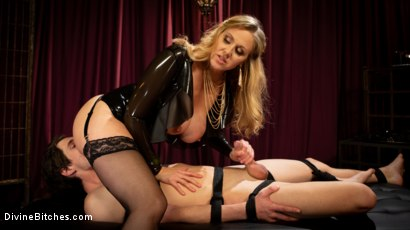 Photo number 14 from Latex Goddess Julia Ann Dominates Dripping Cock Whore shot for Divine Bitches on Kink.com. Featuring Julia Ann and Tony Orlando in hardcore BDSM & Fetish porn.