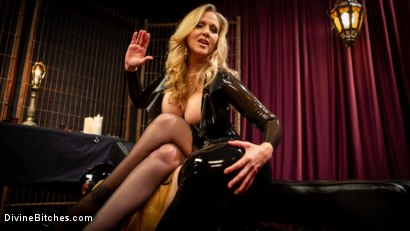 Photo number 2 from Latex Goddess Julia Ann Dominates Dripping Cock Whore shot for Divine Bitches on Kink.com. Featuring Julia Ann and Tony Orlando in hardcore BDSM & Fetish porn.