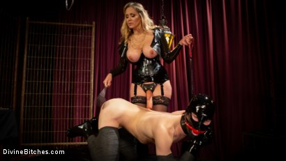 Photo number 7 from Latex Goddess Julia Ann Dominates Dripping Cock Whore shot for Divine Bitches on Kink.com. Featuring Julia Ann and Tony Orlando in hardcore BDSM & Fetish porn.