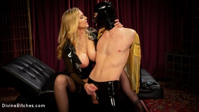 Photo number 4 from Latex Goddess Julia Ann Dominates Dripping Cock Whore shot for Divine Bitches on Kink.com. Featuring Julia Ann and Tony Orlando in hardcore BDSM & Fetish porn.
