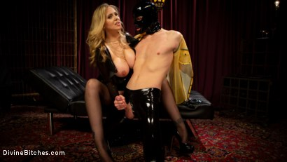 Photo number 5 from Latex Goddess Julia Ann Dominates Dripping Cock Whore shot for Divine Bitches on Kink.com. Featuring Julia Ann and Tony Orlando in hardcore BDSM & Fetish porn.