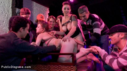 Photo number 13 from Statuesque Blonde, Ashley Lane, Drenched, Defiled, and Shamed shot for Public Disgrace on Kink.com. Featuring Mistress Kara, Tommy Pistol and Ashley Lane in hardcore BDSM & Fetish porn.