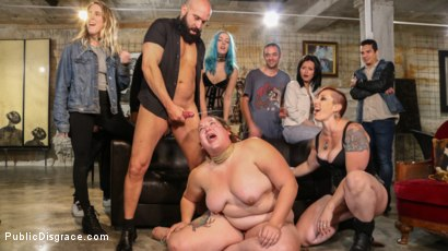 Photo number 15 from BBW Mimosa Sacrifices Every Last Dread of Dignity shot for Public Disgrace on Kink.com. Featuring Mimosa, Tommy Pistol, Mistress Kara, Max Cortes and Juan Lucho in hardcore BDSM & Fetish porn.