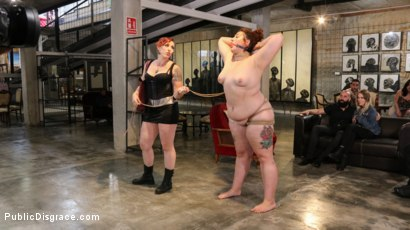 Photo number 6 from BBW Mimosa Sacrifices Every Last Dread of Dignity shot for Public Disgrace on Kink.com. Featuring Mimosa, Tommy Pistol, Mistress Kara, Max Cortes and Juan Lucho in hardcore BDSM & Fetish porn.