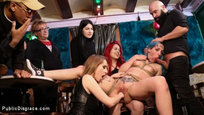 Photo number 14 from Spanish Punk Princess Liz Rainbow tormented by Cadence Lux! shot for Public Disgrace on Kink.com. Featuring Cadence Lux, Max Cortes and Liz Rainbow in hardcore BDSM & Fetish porn.