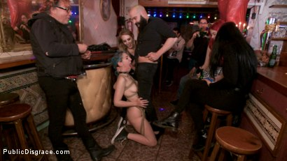 Photo number 6 from Spanish Punk Princess Liz Rainbow tormented by Cadence Lux! shot for Public Disgrace on Kink.com. Featuring Cadence Lux, Max Cortes and Liz Rainbow in hardcore BDSM & Fetish porn.
