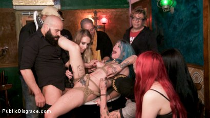 Photo number 11 from Spanish Punk Princess Liz Rainbow tormented by Cadence Lux! shot for Public Disgrace on Kink.com. Featuring Cadence Lux, Max Cortes and Liz Rainbow in hardcore BDSM & Fetish porn.