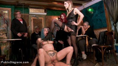 Photo number 5 from Spanish Punk Princess Liz Rainbow tormented by Cadence Lux! shot for Public Disgrace on Kink.com. Featuring Cadence Lux, Max Cortes and Liz Rainbow in hardcore BDSM & Fetish porn.