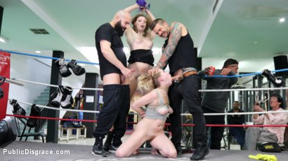 Photo number 2 from Cadence Lux, Spit-Roasted by Spanish Dick shot for Public Disgrace on Kink.com. Featuring Ella Nova , Max Cortes, Juan Lucho and Cadence Lux in hardcore BDSM & Fetish porn.