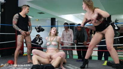 Photo number 13 from Cadence Lux, Spit-Roasted by Spanish Dick shot for Public Disgrace on Kink.com. Featuring Ella Nova , Max Cortes, Juan Lucho and Cadence Lux in hardcore BDSM & Fetish porn.