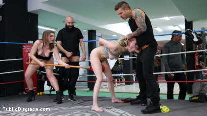 Photo number 1 from Cadence Lux, Spit-Roasted by Spanish Dick shot for Public Disgrace on Kink.com. Featuring Ella Nova , Max Cortes, Juan Lucho and Cadence Lux in hardcore BDSM & Fetish porn.
