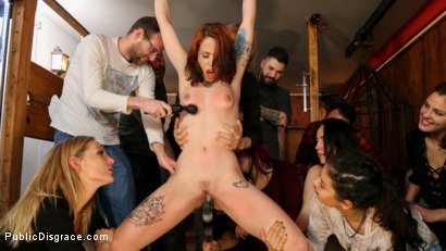 Photo number 11 from Spanish Slut Lilyan Red is Milked, Tormented & Fucked by Mona Wales shot for Public Disgrace on Kink.com. Featuring Juan Lucho, Lilyan Red and Mona Wales in hardcore BDSM & Fetish porn.