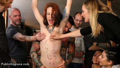 Photo number 14 from Spanish Slut Lilyan Red is Milked, Tormented & Fucked by Mona Wales shot for Public Disgrace on Kink.com. Featuring Juan Lucho, Lilyan Red and Mona Wales in hardcore BDSM & Fetish porn.