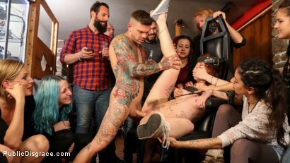 Photo number 16 from Spanish Slut Lilyan Red is Milked, Tormented & Fucked by Mona Wales shot for Public Disgrace on Kink.com. Featuring Juan Lucho, Lilyan Red and Mona Wales in hardcore BDSM & Fetish porn.