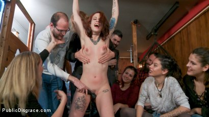 Photo number 4 from Spanish Slut Lilyan Red is Milked, Tormented & Fucked by Mona Wales shot for Public Disgrace on Kink.com. Featuring Juan Lucho, Lilyan Red and Mona Wales in hardcore BDSM & Fetish porn.