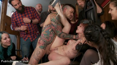 Photo number 7 from Spanish Slut Lilyan Red is Milked, Tormented & Fucked by Mona Wales shot for Public Disgrace on Kink.com. Featuring Juan Lucho, Lilyan Red and Mona Wales in hardcore BDSM & Fetish porn.