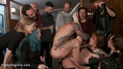 Photo number 8 from Spanish Slut Lilyan Red is Milked, Tormented & Fucked by Mona Wales shot for Public Disgrace on Kink.com. Featuring Juan Lucho, Lilyan Red and Mona Wales in hardcore BDSM & Fetish porn.