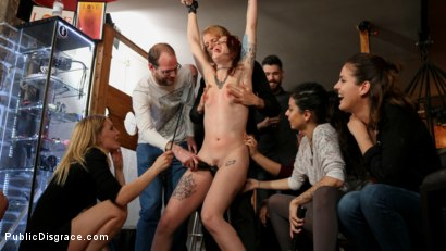 Photo number 10 from Spanish Slut Lilyan Red is Milked, Tormented & Fucked by Mona Wales shot for Public Disgrace on Kink.com. Featuring Juan Lucho, Lilyan Red and Mona Wales in hardcore BDSM & Fetish porn.