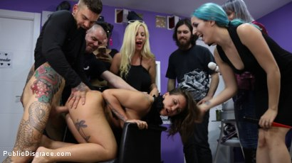Photo number 11 from Tight And Curvaceous Betty Foxxx Fucked In Public By New Young Domme! shot for Public Disgrace on Kink.com. Featuring Juan Lucho, Betty Foxxx, Mona Wales and Liz Rainbow in hardcore BDSM & Fetish porn.