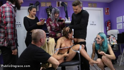 Photo number 3 from Tight And Curvaceous Betty Foxxx Fucked In Public By New Young Domme! shot for Public Disgrace on Kink.com. Featuring Juan Lucho, Betty Foxxx, Mona Wales and Liz Rainbow in hardcore BDSM & Fetish porn.