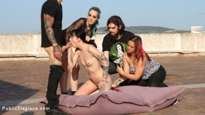 Photo number 13 from Spooky Submissive Slut Charlotte Sartre Gets Boned in a Graveyard! shot for Public Disgrace on Kink.com. Featuring Juan Lucho, Mz Berlin, Charlotte Sartre, Liz Rainbow and Mona Wales in hardcore BDSM & Fetish porn.