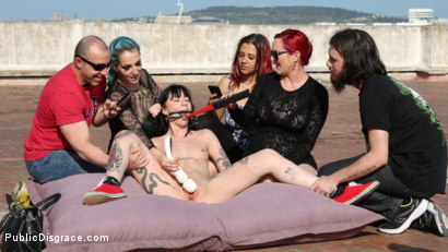 Photo number 9 from Spooky Submissive Slut Charlotte Sartre Gets Boned in a Graveyard! shot for Public Disgrace on Kink.com. Featuring Juan Lucho, Mz Berlin, Charlotte Sartre, Liz Rainbow and Mona Wales in hardcore BDSM & Fetish porn.