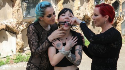 Photo number 1 from Spooky Submissive Slut Charlotte Sartre Gets Boned in a Graveyard! shot for Public Disgrace on Kink.com. Featuring Juan Lucho, Mz Berlin, Charlotte Sartre, Liz Rainbow and Mona Wales in hardcore BDSM & Fetish porn.