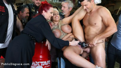 Photo number 17 from Busty Blonde Candela X Submits In Biker Bar shot for Public Disgrace on Kink.com. Featuring Ramon Nomar, Mz Berlin and Candela X in hardcore BDSM & Fetish porn.