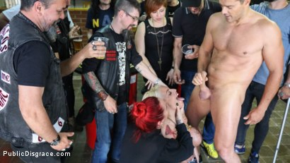 Photo number 20 from Busty Blonde Candela X Submits In Biker Bar shot for Public Disgrace on Kink.com. Featuring Ramon Nomar, Mz Berlin and Candela X in hardcore BDSM & Fetish porn.