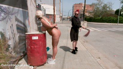 Photo number 2 from Busty Blonde Candela X Submits In Biker Bar shot for Public Disgrace on Kink.com. Featuring Ramon Nomar, Mz Berlin and Candela X in hardcore BDSM & Fetish porn.
