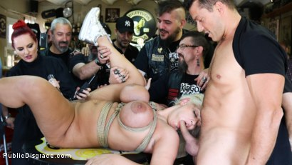 Photo number 12 from Busty Blonde Candela X Submits In Biker Bar shot for Public Disgrace on Kink.com. Featuring Ramon Nomar, Mz Berlin and Candela X in hardcore BDSM & Fetish porn.