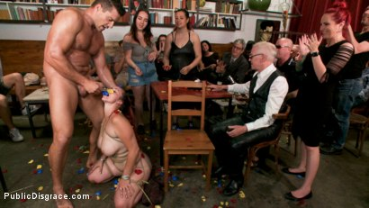 Photo number 13 from Bella Rossi Made To Come Again And Again And Again... shot for Public Disgrace on Kink.com. Featuring Ramon Nomar, Mz Berlin and Bella Rossi in hardcore BDSM & Fetish porn.