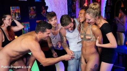 Photo number 6 from Nikki Darling Surrenders Her Holes In Spanish Nightclub shot for Public Disgrace on Kink.com. Featuring Ramon Nomar, Mona Wales and Nikki Darling in hardcore BDSM & Fetish porn.