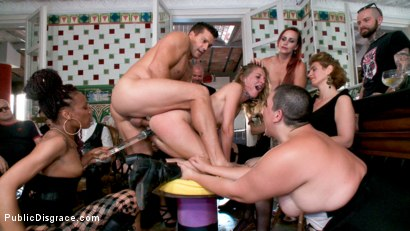 Photo number 10 from Fancy Party Interrupted To Tame The Feral Princess of Filth! shot for Public Disgrace on Kink.com. Featuring Ramon Nomar, Nikki Darling, Bella Rossi, Mimosa and Mona Wales in hardcore BDSM & Fetish porn.