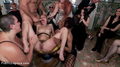 Photo number 11 from Fancy Party Interrupted To Tame The Feral Princess of Filth! shot for Public Disgrace on Kink.com. Featuring Ramon Nomar, Nikki Darling, Bella Rossi, Mimosa and Mona Wales in hardcore BDSM & Fetish porn.