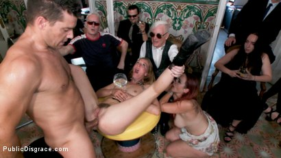 Photo number 16 from Fancy Party Interrupted To Tame The Feral Princess of Filth! shot for Public Disgrace on Kink.com. Featuring Ramon Nomar, Nikki Darling, Bella Rossi, Mimosa and Mona Wales in hardcore BDSM & Fetish porn.