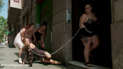 Photo number 18 from Fancy Party Interrupted To Tame The Feral Princess of Filth! shot for Public Disgrace on Kink.com. Featuring Ramon Nomar, Nikki Darling, Bella Rossi, Mimosa and Mona Wales in hardcore BDSM & Fetish porn.