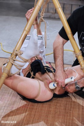 Photo number 11 from Because I Tease the Boys shot for Wasteland on Kink.com. Featuring Nyssa Nevers and David Lawrence in hardcore BDSM & Fetish porn.