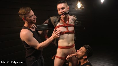 Photo number 1 from New to KinkMen, Zak Bishop Gets Sucked, Edged and Fisted Till He Blows shot for Men On Edge on Kink.com. Featuring Zak Bishop in hardcore BDSM & Fetish porn.