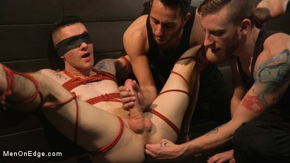 Photo number 11 from New to KinkMen, Zak Bishop Gets Sucked, Edged and Fisted Till He Blows shot for Men On Edge on Kink.com. Featuring Zak Bishop in hardcore BDSM & Fetish porn.