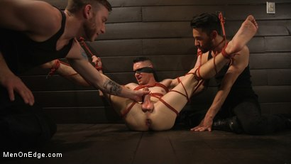 Photo number 18 from New to KinkMen, Zak Bishop Gets Sucked, Edged and Fisted Till He Blows shot for Men On Edge on Kink.com. Featuring Zak Bishop in hardcore BDSM & Fetish porn.