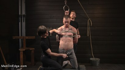 Photo number 2 from Tattooed Stud Dane Stewart Gets His Big Dick Electrified and Edged shot for Men On Edge on Kink.com. Featuring Dane Stewart in hardcore BDSM & Fetish porn.
