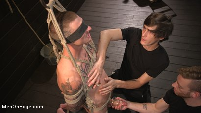 Photo number 8 from Tattooed Stud Dane Stewart Gets His Big Dick Electrified and Edged shot for Men On Edge on Kink.com. Featuring Dane Stewart in hardcore BDSM & Fetish porn.