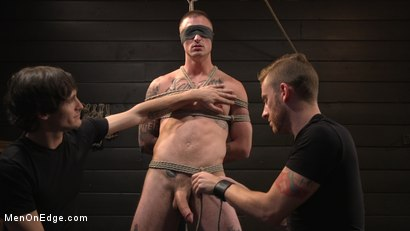 Photo number 5 from Tattooed Stud Dane Stewart Gets His Big Dick Electrified and Edged shot for Men On Edge on Kink.com. Featuring Dane Stewart in hardcore BDSM & Fetish porn.