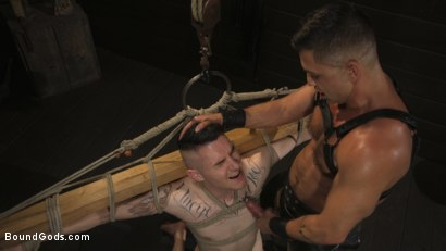 Photo number 10 from Pretty boy Zak Bishop gets trained by Master Pacifico  shot for Bound Gods on Kink.com. Featuring Dominic Pacifico and Zak Bishop in hardcore BDSM & Fetish porn.