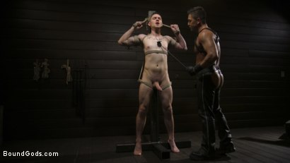 Photo number 3 from Pretty boy Zak Bishop gets trained by Master Pacifico  shot for Bound Gods on Kink.com. Featuring Dominic Pacifico and Zak Bishop in hardcore BDSM & Fetish porn.