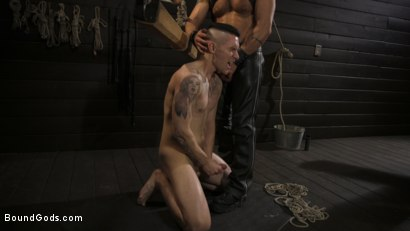 Photo number 8 from Pretty boy Zak Bishop gets trained by Master Pacifico  shot for Bound Gods on Kink.com. Featuring Dominic Pacifico and Zak Bishop in hardcore BDSM & Fetish porn.