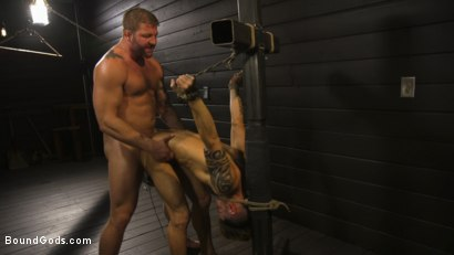 Photo number 12 from Fuck toy Casey Everett gets used by beefcake Colby Jansen shot for Bound Gods on Kink.com. Featuring Colby Jansen and Casey Everett in hardcore BDSM & Fetish porn.