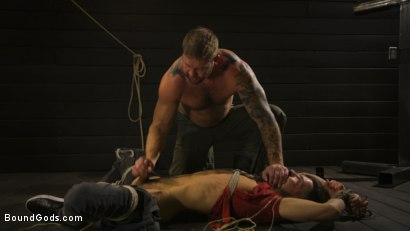 Photo number 3 from Fuck toy Casey Everett gets used by beefcake Colby Jansen shot for Bound Gods on Kink.com. Featuring Colby Jansen and Casey Everett in hardcore BDSM & Fetish porn.